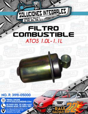 FILTRO COMBUSTIBLE ATOS 1.0L-1.1L