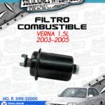 FILTRO COMBUSTIBLE VERNA 1.5L 2003-2005