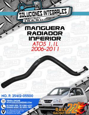 MANGUERA RADIADOR INFERIOR ATOS 1.1L