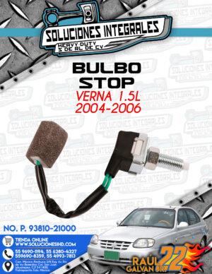 BULBO STOP VERNA 1.5L 2004-2006