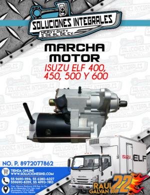 MARCHA MOTOR ISUZU ELF 400, 450, 500 Y 600