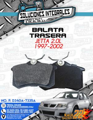 BALATA TRASERA JETTA 2.0L 1997-2002