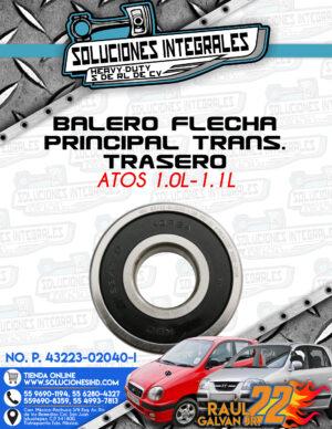 BALERO FLECHA PRINCIPAL TRANSMISIÓN TRASERO ATOS 1.0L-1.1L