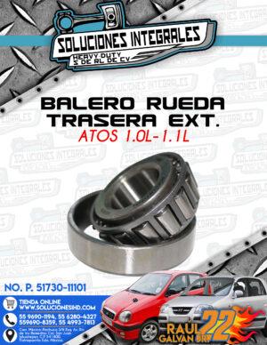 BALERO RUEDA TRASERA EXTERIOR ATOS 1.0L-1.1L