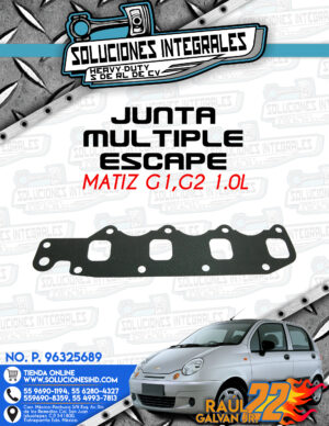 JUNTA MULTIPLE ESCAPE MATIZ G1-G2 1.0L