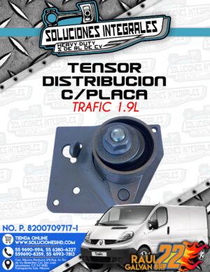 TENSOR DISTRIBUCION CON PLACA TRAFIC 1.9L