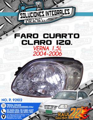 FARO CUARTO CLARO IZQUIERDO VERNA 1.5L 2004-2006