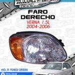 FARO DERECHO VERNA 1.5L 2004-2006