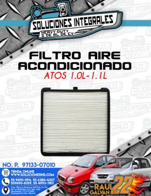 FILTRO AIRE ACONDICIONADO ATOS 1.0L-1.1L