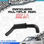 MANGUERA MULTIPLE ADMISION ATOS 1.1L 2006-2011