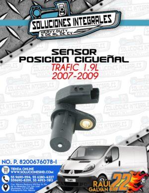 SENSOR POSICION CIGUEÑAL TRAFIC 1.9L 2007-2009