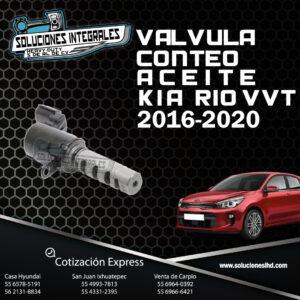 VALVULA CONTEO ACEITE KIA RIO VVT 16-20