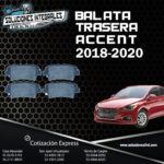 BALATA TRASERA ACCENT 18-20