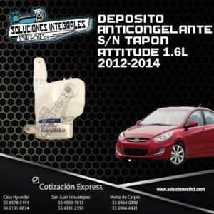 DEPOSITO ANTICONGELANTE S/TAPON ATTITUDE 1.6L 12-14