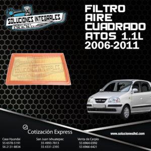 FILTRO AIRE CUADRADO ATOS 1.1L 06-11